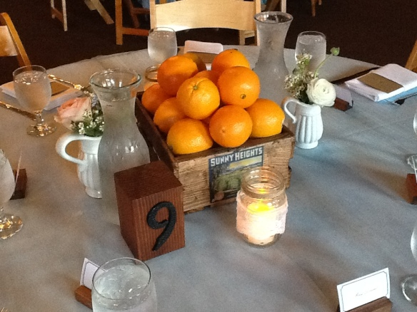 Building used to be an old citrus production warehouse, hence the orange theme--I thought this was a great touch!