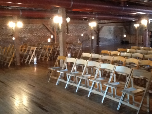 The upstairs ceremony area
